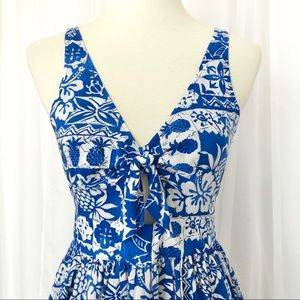 New!! Hollister Islander Fit n Flare Cut-Out Dress